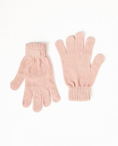 Oudroze handschoenen